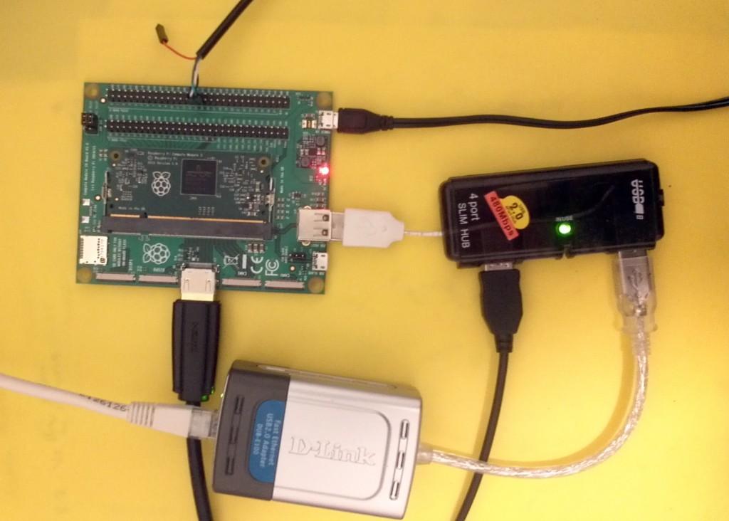 Raspberry Pi Compute Module 3 on the V2G EVSE test bench
